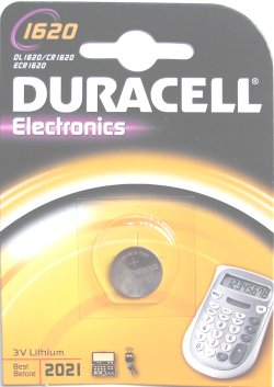 Duracell CR1620 3 Volt Lithium Battery