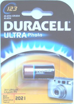 Duracell 123 Ultra Photo Lithium 3 Volt Battery