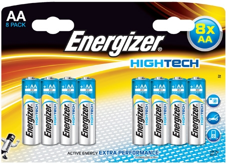 Energizer High Tech AA Batteries 8 Pack
