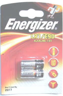 Pack of 2 Energizer LR1 E90 1.5 Volt Alkaline Batteries