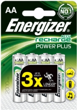 4 Energizer AA 2000mah ACCU Rechargeable batteries