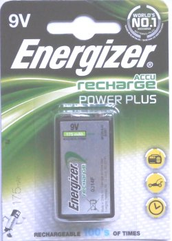 Energizer 9 Volt Rechargeable PP3 ACCU Power Plus Battery