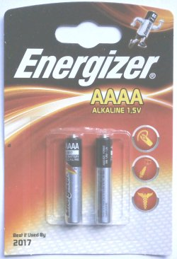 2 Energizer AAAA (Quad A) Batteries