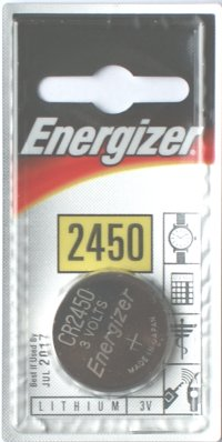 Energizer CR2450 3 Volt Lithium Battery Card of 2