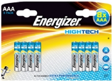 Energizer High Tech AAA Batteries 8 Pack