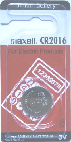 Maxell CR2016 Lithium 3 Volt Battery