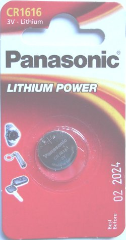 Panasonic CR1616 3 Volt Lithium Battery