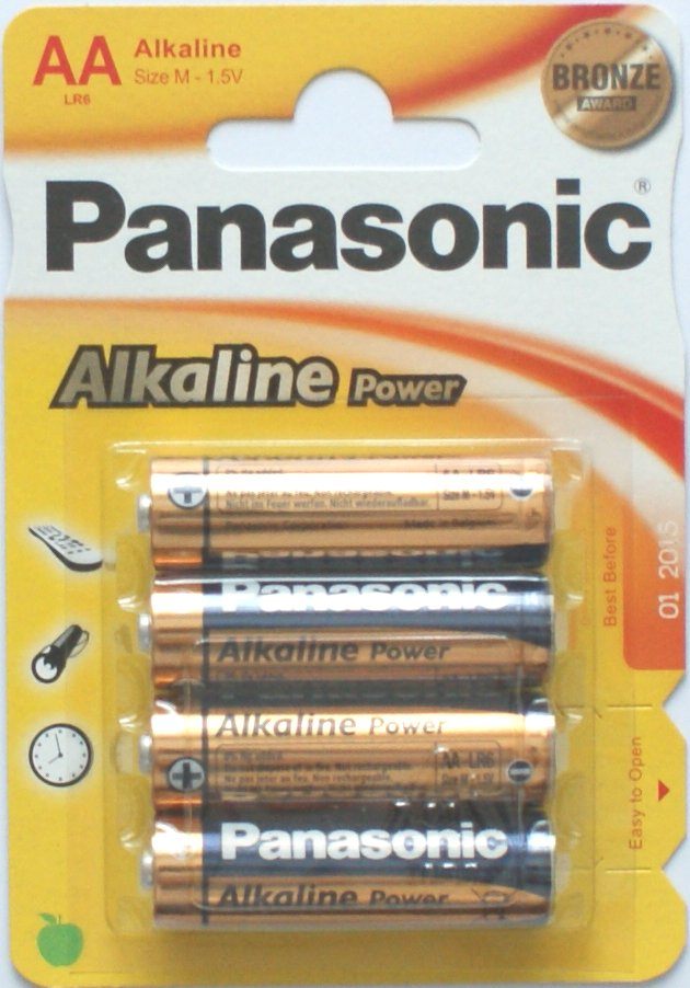 Panasonic AA Batteries Alkaline Power Bronze 4 Pack